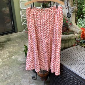 Stiletto pleated midi skirt